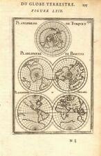 Mondo planisfero. Turquet BERTIUS arzael. CALIFORNIA Island. Martello 1683 Mappa
