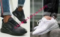 Nike Air Max 720 Men's Women's Shoes Trainers Unisex White, Black, Space Flight