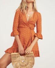 FAITHFULL THE BRAND Carmel Dress in Stefano Print Ginger BNWT Size 6/XS RRP $159