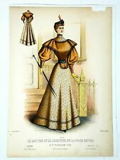 French Fashion Magazine 1893 Antique Advertising Print 10x15 19th c French Art