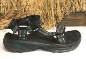 Teva 1004485 Terra Fi 4 Mens SZ 9 Brown Canvas Sport Hiking Sandals Shoes