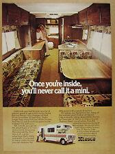 1976 Itasca Mini 25 ft Motor Home RV interior photo vintage print Ad