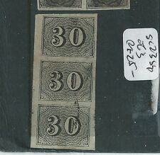 BRAZIL (P2811B) NUMERAL 30    SC 23 STRIP OF 3  VFU