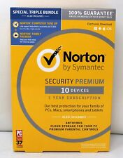 Norton By Symantec Security Premium 10 Devices 1 Year Subscription