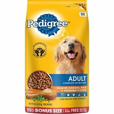 Pedigree Adult Complete Nutrition Roasted Chicken,Rice AndVegetable Dry Dog 55lb