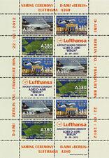 "VIGNETTES AERIENNES ""Airbus A380 Lufthansa - Vol Baptême Berlin-Frankfurt"" 2012"