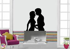 Wall Stickers Vinyl Kissing Couple Love Romantic Decor For Bedroom  (z1687)