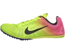 $125 NIKE Zoom D OC Track Field Running Shoes Spikes Volt Yellow Pink 12.5