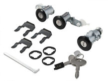 1987-1993 Mustang Black Door Trunk Hatch Glove Box 4 piece Locks Set w/ Keys