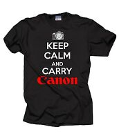 Keep Calm And Carry Canon T Shirt Gift For Photographer T-Shirt Shirt Tee