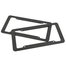 Plastic Carbon Fiber Style License Plate Frames For Front & Rear Bracket 2pc Set