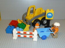 LEGO® Duplo 1x Frontlader Baustelle Bagger mit Figur viel Zubehör aus 5650 R1013
