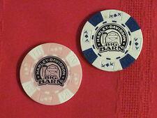 *** Pair of Harley Davidson Big Barn Poker Chips / Des Moines, Iowa