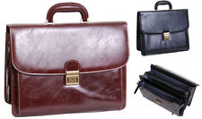 Men's Faux Leather Briefcase/Attaché Bags with Laptop Sleeve/Protection