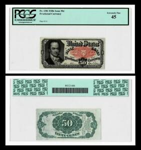 FR.#1381  1875 50c Fractional Currency~~PCGS EF45