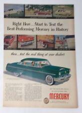 Original Print Ad 1953 MERCURY Auto Green 2 Door Monteray Vintage Photos Art