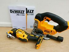 DEWALT XR 18V DCS331 JIGSAW + DCS355 OSCILLATING MULTI TOOL BARE UNITS