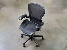 Herman Miller Aeron Graphite Adjustable Ergonomic Lumbar Office Chair Size B