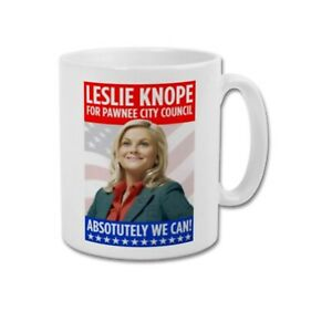 LESLIE KNOPE For Pawnee City Council Parks and Recreation Collectable Coffee Mug