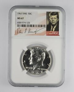 1967 MS67 SMS Special Mint Set Kennedy Half Dollar NGC Graded *006