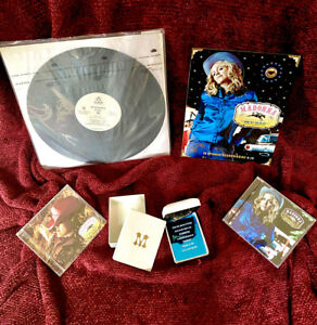 MADONNA MUSIC NECKLACE ALBUM LAUNCH INVITE GHETTO PIMP FUR BOX PROMO VINYL CD LP