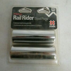 Bell Games Rail Rider Steel Pegs New Fits Most 3/8 Axles Hardened Steel