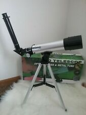 F36050 Astronomical Landscape Lens Single-Tube Telescope With Tripod Silver