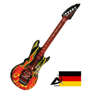 Aufblasbare Luftgitarre Rockstar Airguitar Luft Gitarre Gitarren Flamme Gitarre