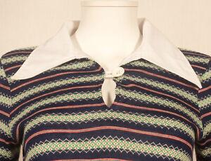 60'S FRENCH VINTAGE 'AMARAGGI-PARIS' STRIPE DRESS UK 10 / FR 38