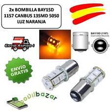 2 BOMBILLAS BOMBILLA LED COCHE BAY15D 13SMD 5050 1157 PY21 NARANJA INTERMITENTE