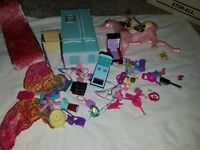 barbie and doll accessories lot