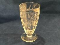 "Libbey Rock Sharpe Crystal 2011-1 CUT FLORAL BOWL 5 1/2"" ICED TEA GLASS - NICE!"