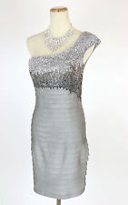 New Genuine Jovani 89629 Silver Mini Short Cocktail Club Party Dress 2