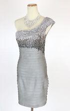 New Genuine Jovani 89629 Silver Mini Short Cocktail Club Party Women Dress 2