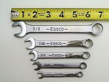 "5 PC EASCO 1/4"" TO 5/8"" COMBINATION WRENCH SET 12 POINT"