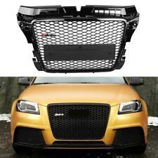 Para RS3 Estilo Parrilla Malla Frontal Negro Brillante para Audi A3/S3 8P 09-12