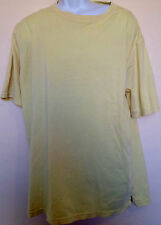 A67 Authentic Men's Tee T-shirt Yellow Short Sleeve Crew Neck L Large Basic