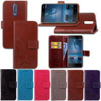 For Nokia 3 /5/ 6 /8 Luxury Patterned Business Wallet Flip PU Leather Case Cover