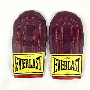 Vintage Everlast 4308 Leather Weighted Speed Bag Training Gloves / Top Grain