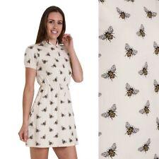 Run and Fly Bumble Bee Print Jersey T Shirt Dress 8 10 12 14 16