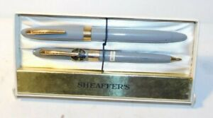 Vintage Sheaffer Sheaffers Snorkel 14kt Nib Fountain Pen & Pencil Set MINT MIB