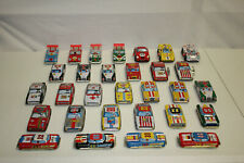30 Vtg Japanese Japan Tin Friction Wind Up Fire Taxi Ambulance Police Race Cars
