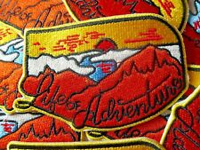 Life Of Adventure Embroidered Patch Badge Travel Explore Outdoors Hike Scout