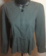 Isabel Marant Etoile SZ 0/XS Cropped Army Greenish Gray Cotton Jacket Excellent