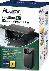 Aqueon QuietFlow E Internal Power Filter Large 40 Gallon