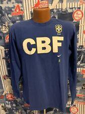 Vintage 2000s Brazil Soccer National Team Nike Long Sleeve T-shirt. Size Medium.