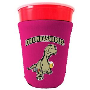 Drunkasaurus Neoprene Collapsible Party Cup Coolie, T Rex, Dinosaur