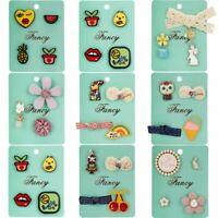 Cute Cartoon Pineapple Rainbow Paper Girl Card Badge Brooch Pin Set Jewelry Gift