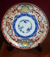 Antique Japanese Meiji Arita Imari Plate Three Friends of Winter circa 1880's