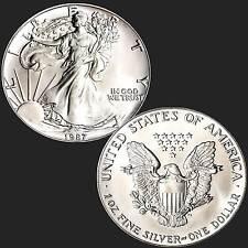 American Eagle ► 1 Oncia 1987 argento fine 999/1000